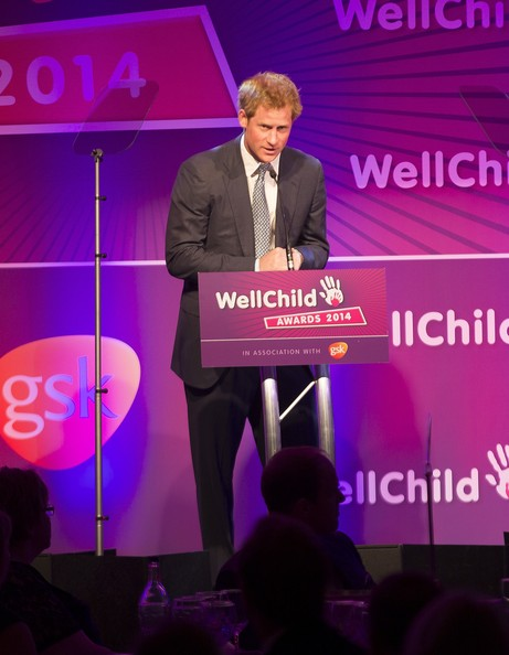 Prince Harry Prince Harry speaks during the WellChild awards at the London Hilton on September 22, 2014 in London, England.