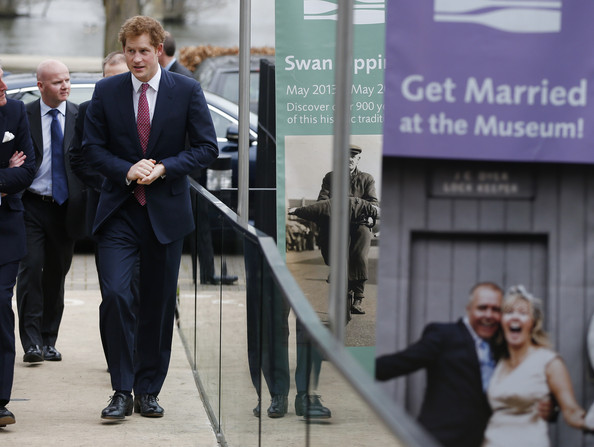 Britain's Prince Harry arrives at the River and Rowing Museum on March 10, 2014 in Henley on Thames, England. Prince Harry will met the Row to Recovery crew of wounded ex-servicemen who successfully rowed across the Atlantic in 2013. The Endeavour Fund, created by The Royal Foundation of The Duke and Duchess of Cambridge and Prince Harry, has supported Row to Recoverys legacy project to improve access to rowing facilities to aid recovery of wounded ex-servicemen and women.