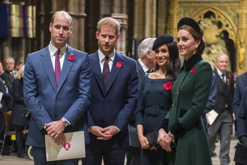 Prince Harry The Queen Attends A Service At Westminster Abbey Marking The Centenary Of WW1 Armistice