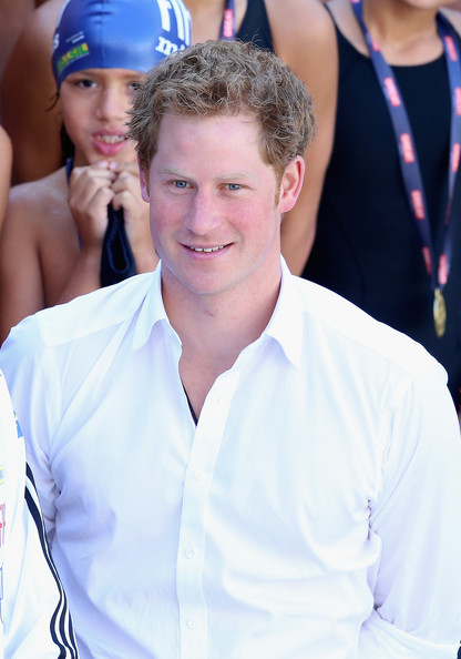 Prince Harry visits Minas Tenis Clube supporting the UK's GREAT Campaign on June 24, 2014 in Belo Horizonte, Brazil.  Prince Harry is on a four day tour of Brazil that will be followed by Two days in Chile.