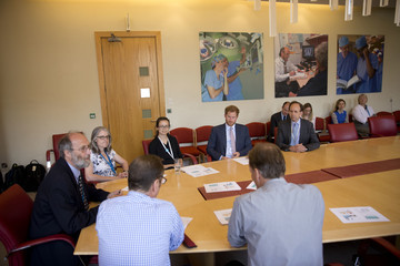 Prince Harry Prince Harry visits HIV Service at Kings College Hospital London