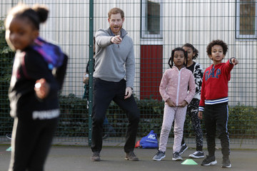 Prince Harry Prince Harry Visits StreetGames' Fit and Fed Half-Term Initiative