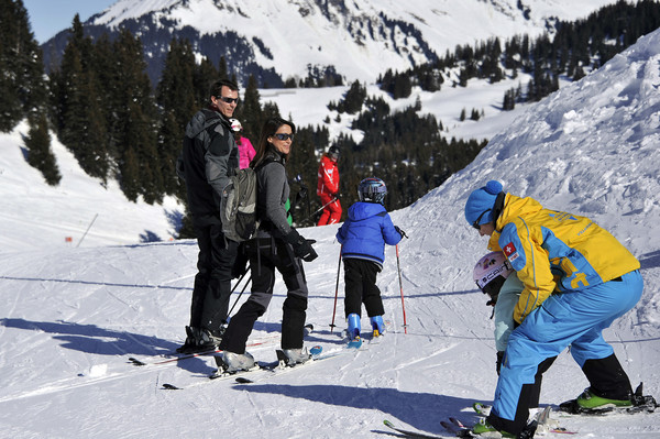 Prince Joachim and Princess Marie of Denmark Hold Annual Skiing Photocall In Col-de-Bretaye