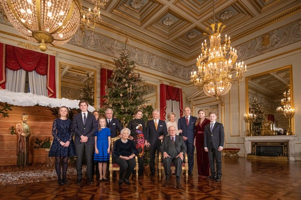 Belgian Royal Family Attends Christmas Concert At Royal Palace In Brussels [lighting,ballroom,room,event,palace,hall,government,interior design,building,light fixture,belgian royal family attends christmas concert at royal palace,brussels,louise,gabriel,philippe of belgium,mathilde,paola,laurent,claire,astrid]