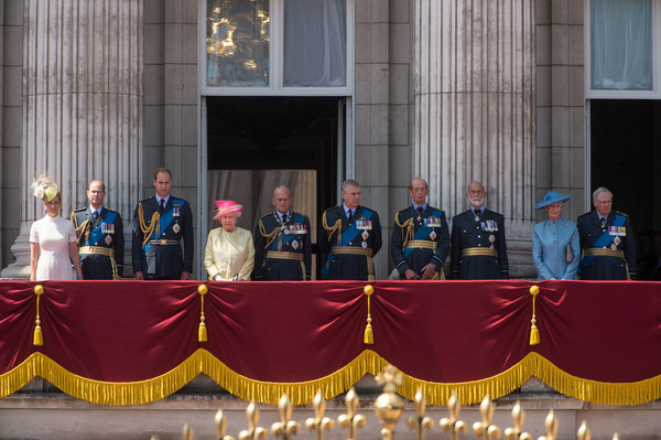 75th Anniversary of the Battle of Britain [event,pope,clergy,performance,l-r,75th anniversary of the battle of britain,duke,richard,andrew,philip,elizabeth ii,michael,alexandra,sophie]