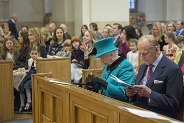 Prince Philip The Queen and Duke of Edinburgh Visit St Columba's Church