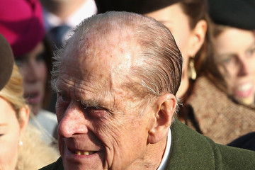 Prince Philip The Royal Family Attend Church On Christmas Day