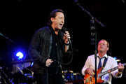 (EXCLUSIVE COVERAGE)  Julian Lennon (L) and Mark King perform onstage during the Prince's Trust Rock Gala 2011 at Royal Albert Hall on November 23, 2011 in London, England. The gala, sponsored by Novae, raises vital funds for the youth charity's work with disadvantaged young people.