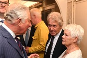 Prince Charles, Prince of Wales speaks with Dame Judi Dench as he attends the Fortnum & Mason Food & Drink awards, held at Fortnum & Mason on May 16, 2019 in London, England.