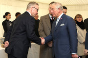 Prince Charles, Prince of Wales is greeted by Secretary of State for Environment, Michael Gove during a Waste-To-Wealth Summit at Southwark Integrated Waste Management Facility on November 22, 2018 in London, England..The Prince of Wales, President and Royal Founding Patron of Business in the Community (BITC.), will attend BITC's Waste-to-Wealth Summit. BITC is convening the Waste-to-Wealth Summit at which 200 leaders from business, government, academia and civil society will come together to tackle one of challenges of our time; to commit to work collectively to create new solutions that will increase resource productivity and reduce avoidable waste.