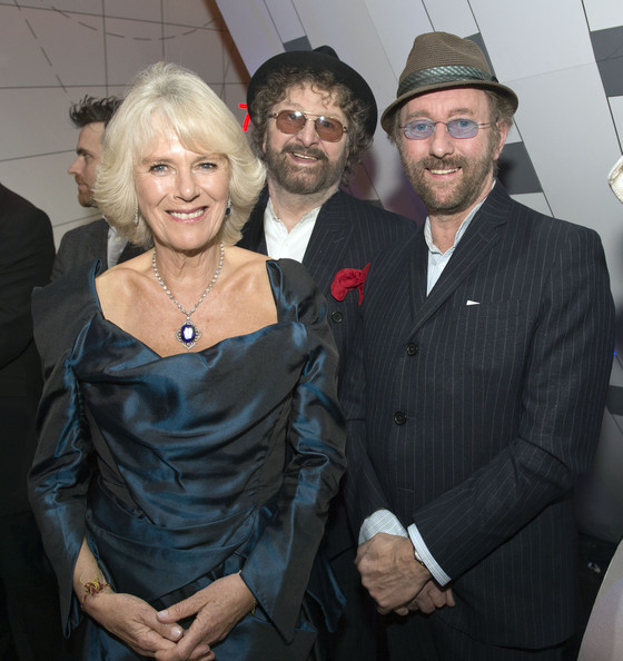 Camilla, Duchess of Cornwall meets Chas and Dave at the Royal Variety Performance at London Palladium on November 25, 2013 in London, England.