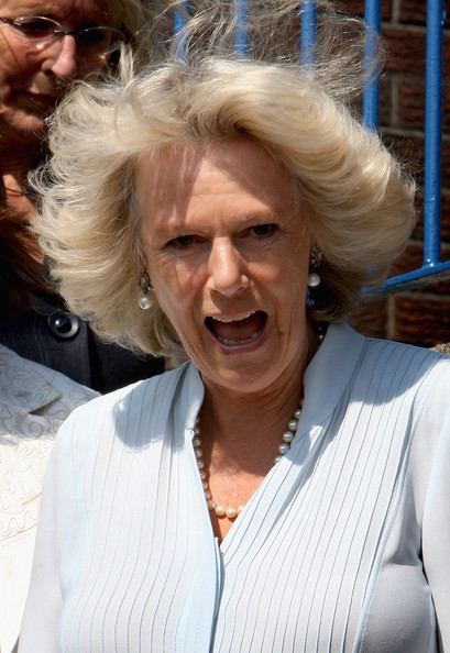 Camilla Parker Bowles HRH Camilla, Duchess of Cornwall laughs as she visits Treorchy Comprehensive School on June 23, 2009 in Treorchy, Wales. The Duchess of Cornwall and the Prince of Wales are on their annual 'Wales Week' visit to the region and will be staying at the recently refurbished property.