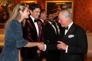 Josh Hartnett and Tamsin Egerton attend  dinner to celebrate The Prince's Trust, hosted by Prince Charles, Prince of Wales at Buckingham Palace on March 12, 2019 in London, England. The Prince of Wales, President, The Prince's Trust Group hosted a  dinner for donors, supporters and ambassadors of Prince's Trust International.