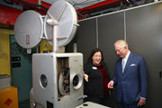 Prince Charles, Prince of Wales sees one of the UK's few remaining 35mm projection box's during an official visit to BFI Southbank on December 06, 2018 in London, England.  The Prince of Wales has been Patron of the British Film Institute for 40 years.