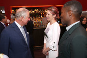 Prince Charles, Prince of Wales with Hayley Atwell and David Oyelowo OBE during an official visit to BFI Southbank on December 06, 2018 in London, England.  The Prince of Wales has been Patron of the British Film Institute for 40 years.