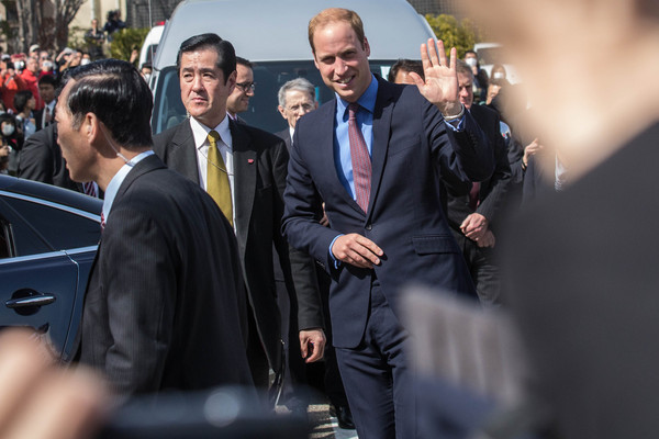 Prince William Prince William, Duke of Cambridge waves to the crowd after arriving at Tsutaya bookstore to launch the Innovation is GREAT exhibition on February 28, 2015 in Tokyo, Japan. The Duke of Cambridge is visiting Japan from February 26th to March 1st 2015.