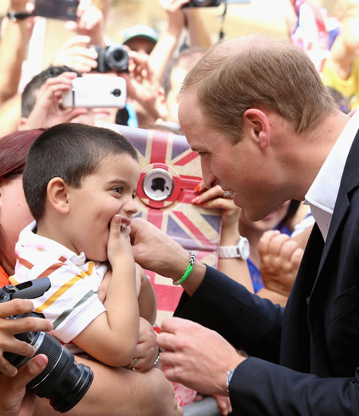 Prince William Prince William, Duke of Cambridge meets a young boy during a walk-about in Vittoriosa Square on an official visit to Malta on September 21, 2014 in Valletta, Malta. Prince William, Duke of Cambridge is making an official two day visit to Malta as a representative of Queen Elizabeth II. Originally the Duchess of Cambridge was due to make the trip as her first solo overseas engagement as part of Malta's fiftieth Anniversary of Independance but had to cancel due to acute morning sickness with her second child.