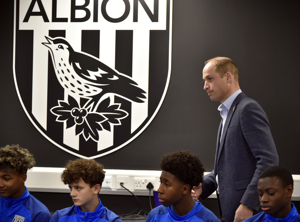 The Duke Of Cambridge Visits West Bromwich Albion FC