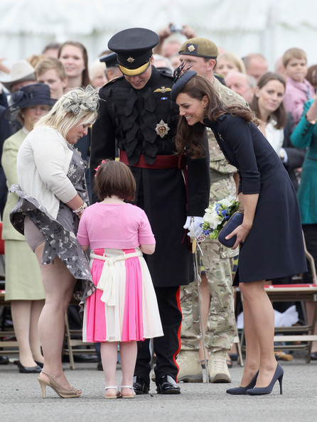 The Duke And Duchess Of Cambridge Attend The Irish Guards Medal Parade