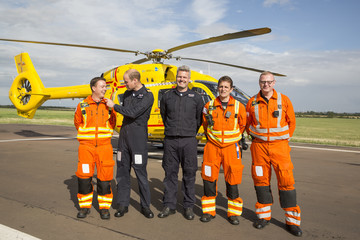 Prince William The Duke of Cambridge Completes His Last Shift With the East Anglian Air Ambulance