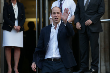 Prince William The Duke of Cambridge Visits The Royal Marsden NHS Foundation Trust