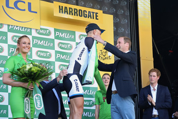 Prince William Marcel Kittel The Duke & Duchess of Cambridge And Prince Harry Attend The Tour De France Grand Depart