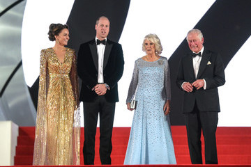 """Prince William Prince Charles """"No Time To Die"""" World Premiere - Red Carpet Arrivals"""