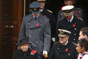 Prince William Prince Charles The UK Observes Remembrance Sunday