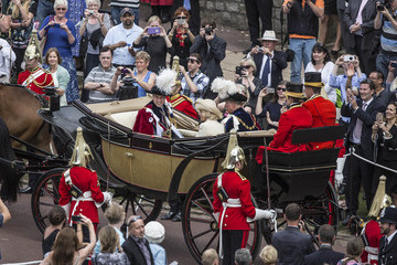 Prince William Prince Charles Service of the Order of the Garter