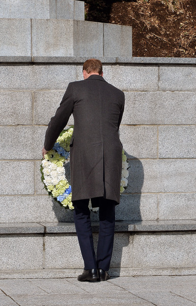 Prince William Prince William, Duke of Cambridge lays a wreath at the Hodogaya Commonwealth War Graves Cemetery in Yokohama to lay a Wreath and pay his respects in Yokohama just outside the capital city of Tokyo on February 27, 2015 in Tokyo, Japan. The Duke of Cambridge is visiting Japan from February 26th to March 1st 2015.