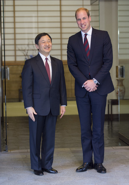 Prince William His Imperial Highness the Crown Prince of Japan meets Prince William, Duke of Cambridge at a reception at the British Embassy, given by the Ambassador, where he met high profile Japanese figures including politicians, artists, young leaders, sportsmen and other leaders in their field on February 27, 2015 in Tokyo, Japan. The Duke of Cambridge is visiting Japan from February 26th to March 1st 2015.