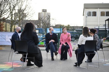 Prince William The Duke And Duchess Of Cambridge Visit School 21 In Stratford