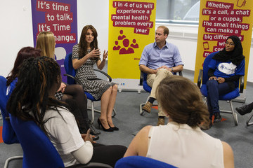Prince William The Duke & Duchess of Cambridge Mark World Mental Health Day
