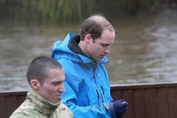 Prince William Royal Princes Help Build Flood Defenses