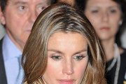 Princess Letizia of Spain attends a minute of silence during the launch of the 7th International congress for the Victims of terrorism at Ecole Militaire on September 15, 2011 in Paris, France.