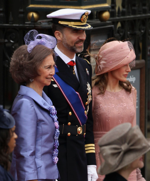 princess letizia of spain wedding. Princess Letizia (L-R) Queen