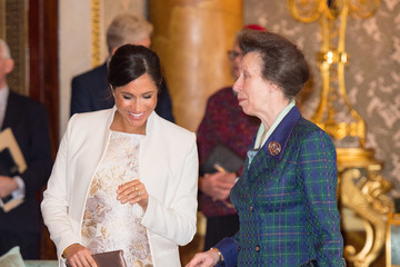 Princess Anne Queen Elizabeth II Marks The Fiftieth Anniversary Of The Investiture Of The Prince Of Wales