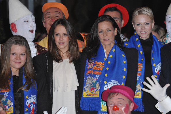 Princess Charlene of Monaco (L-R) Camille Gottlieb, Pauline Ducruet, Princess Stephanie of Monaco and Princess Charlene of Monaco attend the opening ceremony of the Monte-Carlo 36th International Circus Festival on January 19, 2012 in Monte-Carlo, Monaco.