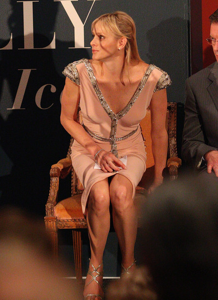 Princess Charlene of Monaco prepares to speak at the opening of the Grace Kelly exhibition at Bendigo Museum on March 10, 2012 in Bendigo, Australia. The late Grace Kelly was the mother of Princess Charlene's husband, Prince Albert of Monaco.