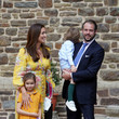 Princess Claire Baptism Of Prince Charles Of Luxembourg At L'Abbaye St Maurice De Clervaux