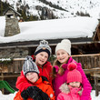 Princess Eléonore of Belgium King Philippe and Queen Mathilde of Belgium on Family Skiing Holiday