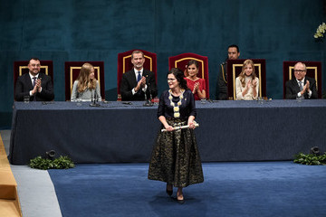 Princess Elena Queen Letizia of Spain Ceremony - Princess of Asturias Awards 2019