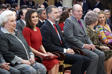 Princess Elena Queen Letizia of Spain Spanish Royals Attend 'Premios Nacionales Del Deporte 2017'