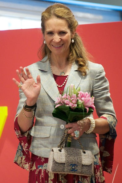 Princess Elena of Spain attends the opening of Madrid Book fair 2014 at the Retiro Park on May 30, 2014 in Madrid, Spain.
