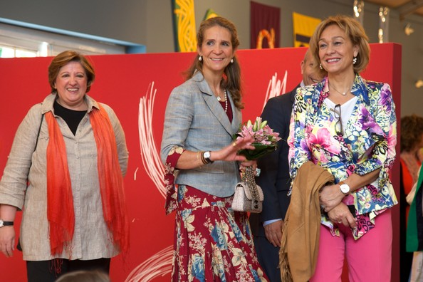 Princess Elena of Spain (C) attends the opening of Madrid Book fair 2014 at the Retiro Park on May 30, 2014 in Madrid, Spain.