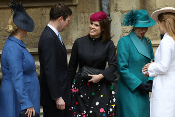 Princess Eugenie Jack Brooksbank The Royal Family Attend Easter Service At St George's Chapel, Windsor