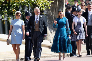 Princess Eugenie Prince Andrew Prince Harry Marries Ms. Meghan Markle - Windsor Castle