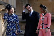 Karoline Copping and Jimmy Carr arrive ahead of the wedding of Princess Eugenie of York to Jack Brooksbank at Windsor Castle on October 12, 2018 in Windsor, England.