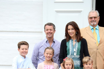 Princess Isabella Princess Mary Annual Summer Photocall for the Danish Royal Family at Grasten Castle
