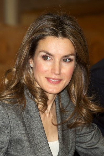 Princess Letizia of Spain Attends Antena 3 Foundation Meeting in Madrid